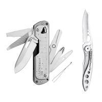 Набор мультитул LEATHERMAN FREE T4 832686 + нож SKELETOOL KBX