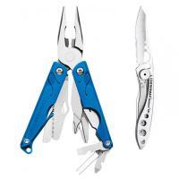Набор мультитул LEATHERMAN LEAP BLUE 831839 + нож SKELETOOL KBX