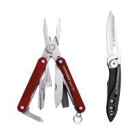 Набор мультитул LEATHERMAN SQUIRT PS4 RED 831227 + нож SKELETOOL KB