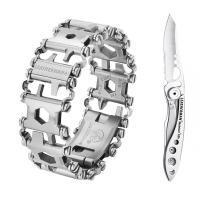 Набор браслет LEATHERMAN TREAD STEEL 832325 + нож SKELETOOL KBX