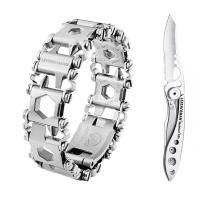 Набор браслет LEATHERMAN TREAD LT STEEL 832431 + нож SKELETOOL KBX