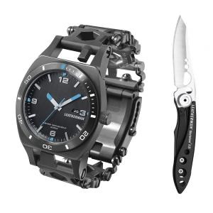 Набор часы LEATHERMAN TREAD TEMPO BLACK 832420 + нож SKELETOOL KB