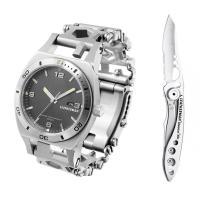 Набор часы LEATHERMAN TREAD TEMPO STEEL 832421 + нож SKELETOOL KBX