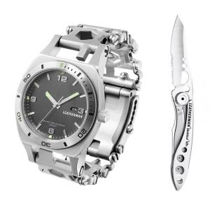 Набор часы LEATHERMAN TREAD TEMPO STEEL 832421 + нож SKELETOOL KBX